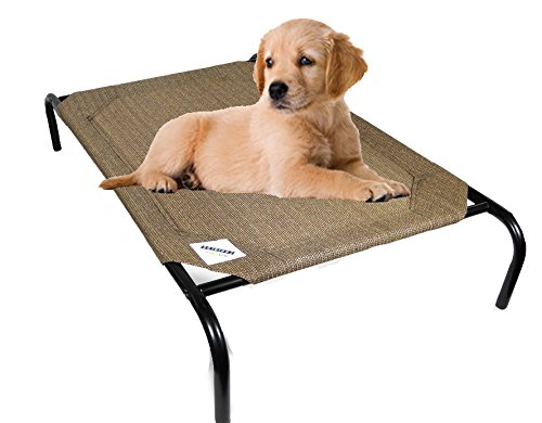 Coolaroo-Elevated-Pet-Bed-Medium-Nutmeg