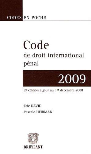 Code de droit international pénal 2008