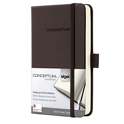 Sigel CO574 Notizbuch, ca. A6, liniert, Hardcover, braun, CONCEPTUM - viele Modelle
