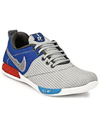LAYASA Synthetic Leather Outdoor Layasa Sports Shoes For Men And Boys Gray Color