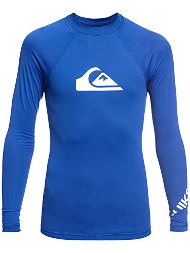 Quiksilver All Time Lycra Manches Longues UPF 50 Garçon, Electric Royal, FR : XL (Taille Fabricant : XL/16)
