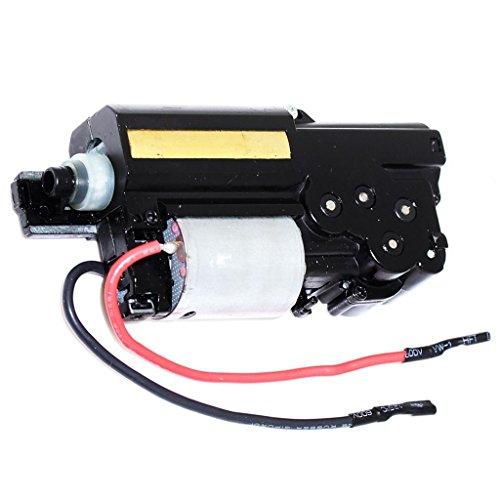 Airsoft Softair Ausrüstung WELL R4 MP7A1 AEP SMG Komplettes Gearbox Getriebe mit Motor AEG Vorderseite Linie