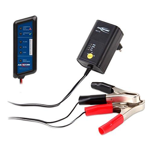 ANSMANN ALCS 2-12 KFZ Autobatterie-Ladegerät für 2V, 6V und 12V Bleiakku Roller Motorrad Moped / Angelzubehör Futterboote, Fischfinder + KFZ-Batterietester