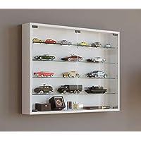 VCM Wall Display Cabinet Mandosa L,White, Wood Structure Replica 60 x W. 80 x D. 10 cm