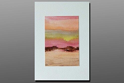 Postkarte + Briefumschlag / Landschaft No2 / Unikat / Aquarellkarte