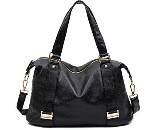 FZHLY Signore Di Svago 2017 Nuovo Cuoio Europa E Negli Stati Uniti Vento Belt Bag Decoration,RedWine Black