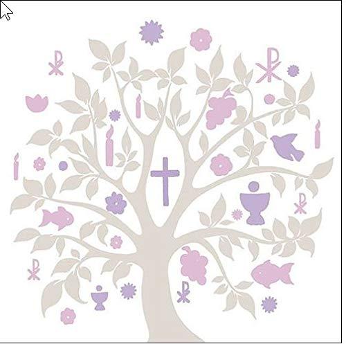 20 Servietten Baum des Lebens Mauve Lila Tischdeko Konfirmation Kommunion Taufe