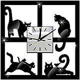 FEI&S elegante espejo acrílico decorativo relojes de pared salón dormitorio Oficina #26