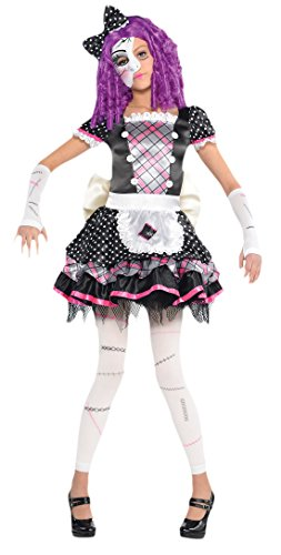 chen Karneval Halloween Komplett Kostüm Damaged Doll , Mehrfarbig, Größe 128-140, 8-10 Jahre (Damen-scary Doll-kostüm)