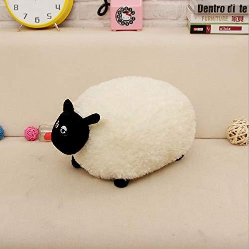 Lamdoo Shirley Gefüllt Weichem Plüsch Spielzeug für Shaun Die Schafe Charakter Weiß Grau Baby Spielzeug des 30 cm