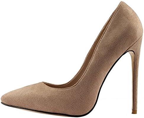 Jushee - Sandalias con cuña mujer, color marrón, talla 44 EU