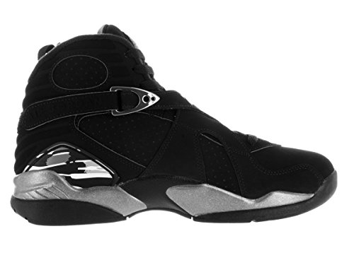 Nike Herren Air Jordan 8 Retro Turnschuhe, 44.5 EU Schwarz / Weiß / Grau (Schwarz / Weiß-Lt Graphite)