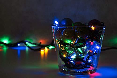 LED Universum WBLRGB1065 LED Lichterkette RGB mit 100 LEDs Länge: 10 Meter (Stimmungsbeleuchtung spritzwassergeschützt, für innen und außen, Weihnachten, Feier, Wohnzimmer, Garten, Terasse) (Mini-kugel-leuchten)