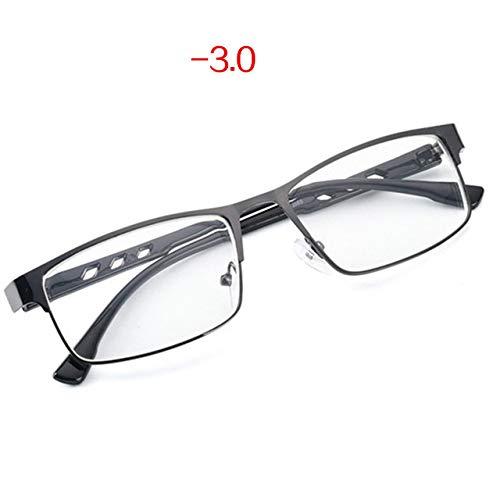 Yangjing-hl WomenLuxury Cat Eye er Sonnenbrille LadiesFinished Myopia Glasses Frauen Männer Retro Metal Frame