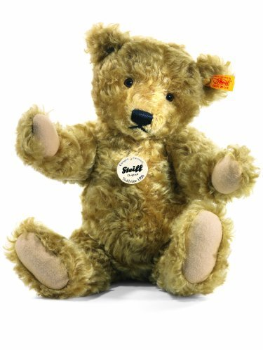 Steiff-000713-1920-Classic-Teddy-Bear-Mohair-Light-Brown-25cm-by-Steiff