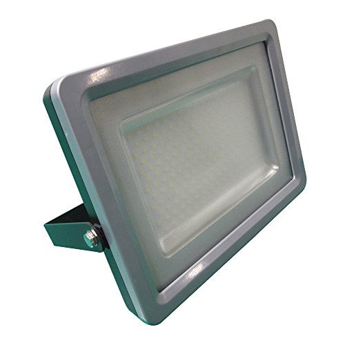 V-TAC UK 5713 100 l 353 x 268 X 46 mm en Aluminium Fin Projecteur LED, Gris foncé