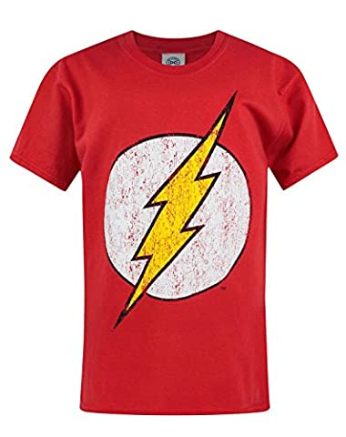 Official Flash Distressed Logo Boy's T-Shirt (5-6 Years)