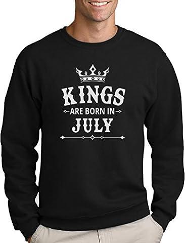 Geschenk Pullover für Ihn - Kings are born in Juli