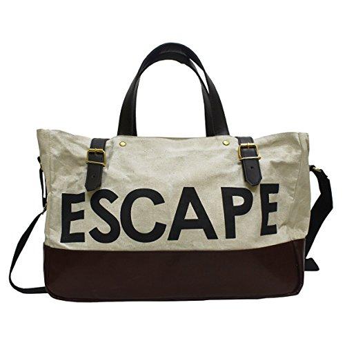 Dg The Brandwhite Faux Leather 394Cms Softsided Duffle Bag