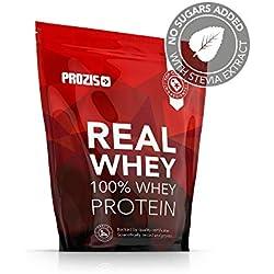 Prozis Natural Real Whey Protein, Proteina en polvo, enriquecido con BCAA para Crecimiento Muscular y Recuperación, óptimo para culturismo, Chocolate negro - 1000 g