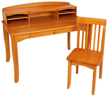KidKraft Avalon Desk with Hutch and Chair- Honey