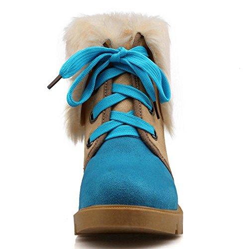 Stringate Increasing Blue TAOFFEN Stivali Height Donna FE6wwgAqnO