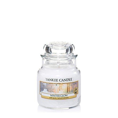 Yankee Candle 1342539E Bougie senteur Lueur hivernale en jarre Blanc
