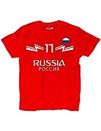 KiarenzaFD Camiseta Camiseta Fútbol Aleksandr Selección Golovin Ruso 17 Shirts, KTS01865-L-red
