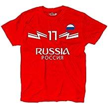 KiarenzaFD - Camiseta de fútbol, de Aleksandr Golovin, selección rusa, número 17,