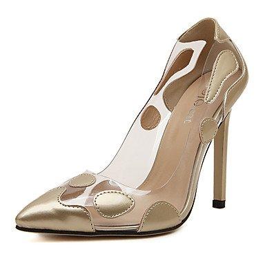 Moda Donna Sandali Sexy donna tacchi Primavera / Estate / Autunno / Inverno Comfort PVC matrimonio abito / Stiletto Heel fiore rosso / Argento / oro golden