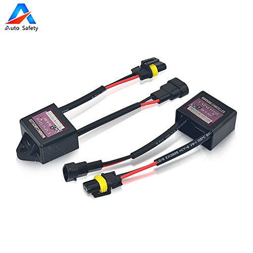 Auto Safety 2 Pezzi allarme errore canceller Canbus Xenon HID decoder Kit HID Light Lamp Relay Capacitor errore Warning Canceller anti-flicke