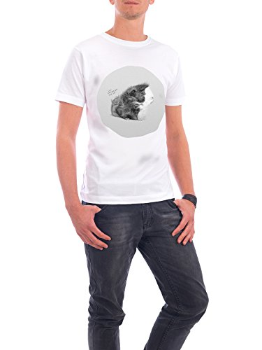 "Design T-Shirt Männer Continental Cotton ""Cavy Hair"" - stylisches Shirt Tiere Kindermotive von Doozal Collective Weiß"