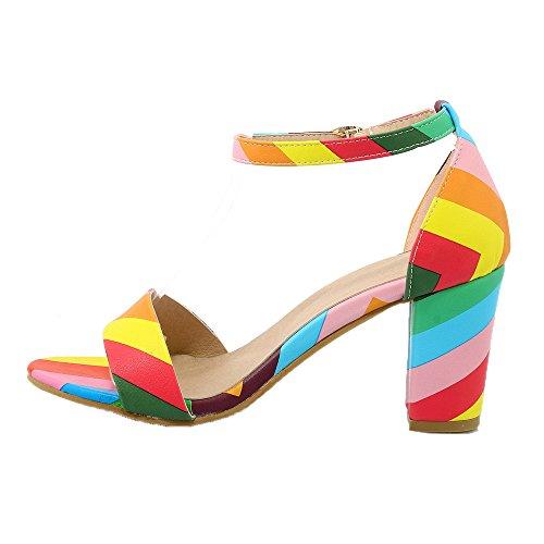 Guoar - Scarpe con cinturino alla caviglia Donna Bunt