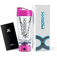 PROMiXX - El mezclador de vórtice original | Botella de alta potencia para mezclar proteína | Diseño de alto par de torsión alimentado por baterías | Tecnología X-Blade | 600ml/20oz | Rosa brillante