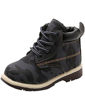 TPulling Mode Junge Und Mädchen Martin Stiefel Herbst Und Winter Kinder Drucken Armeedruck Lässige Schuhe