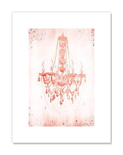 druck im Shabby-Chic-Stil, 30,5 x 40,6 cm, Blush Pastel Pink ()