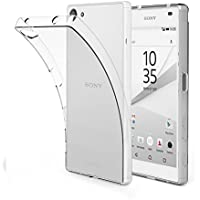 EasyAcc Sony Xperia Z5 Compact 4.6'' Hülle Case, Dünn Crystal Clear Transparent Handyhülle Cover Soft Premium-TPU Durchsichtige Schutzhülle Backcover Slimcase für Sony Z5 Compact