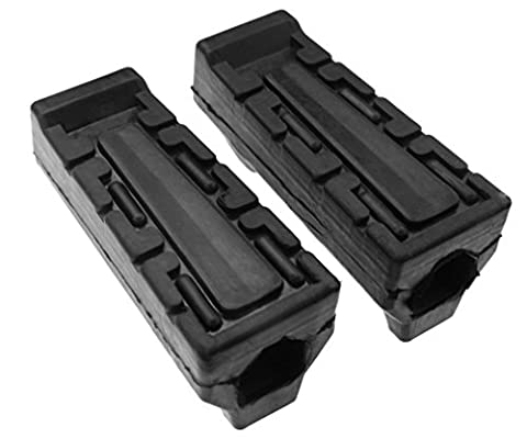 Replacement of 2 x Motorcycle Black Footrest Rubber For Yamaha YBR 125 All