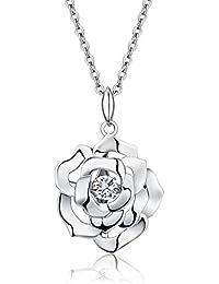 jiamiaoi Knoten Kette Silberketten, Knoten 925 Sterling Silber Anhänger  Halskette für Frauen Liebe… c8cdb45722