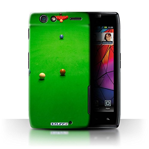 STUFF4 custodia/cover per Motorola RAZR MAXX/Break off/Baulk design/snooker Collection