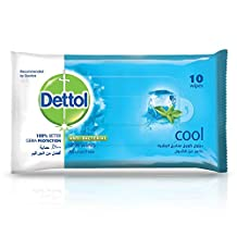 Dettol Cool Antibacterial Skin Wipes 10 Count