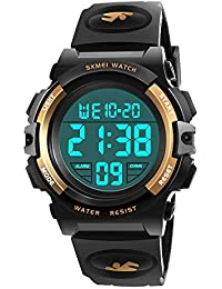 My-My Best 6-12 Years Old Boys Regalos, Electronic Sports Watch para Child Boy Girls Gift Popular reloj impermeable…