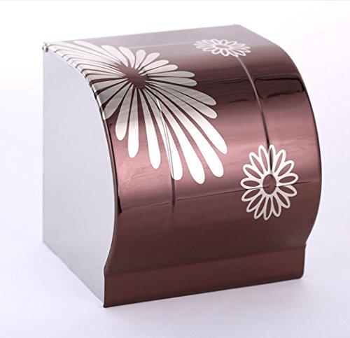 Specchio impermeabile luce igienica scatola di carta igienica rotolo supporto del vassoio di carta igienica, in acciaio inox , purple