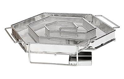 BaBeQ Premium Räucherschnecke Sparbrand Kaltrauchgenerator V1 Edelstahl für 12 Std Kaltrauch für Kugelgrill, Starter-Set