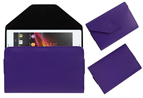 Acm Premium Pouch Case For Sony Xperia C C2305 Flip Flap Cover Holder Purple  available at amazon for Rs.179