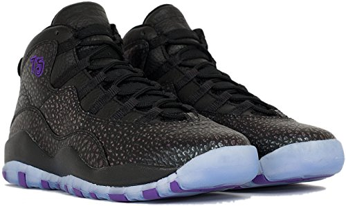 Nike Black / Fierce Purple-Black, Scarpe da Basket Bambino Nero (Negro (Black / Fierce Purple-Black))