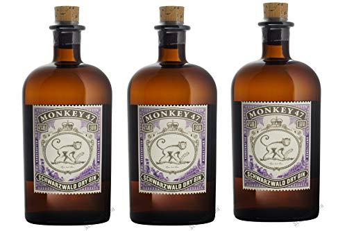 Monkey 47 Gin, 3er Pack (3 x 500 ml)