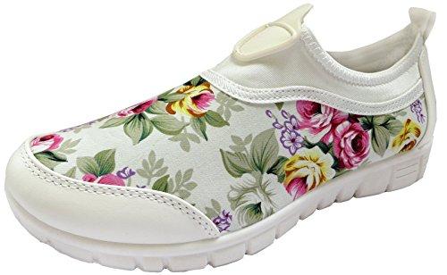 RTB Go Walking Get Fit Baskets de sport pour femmes blanc floral