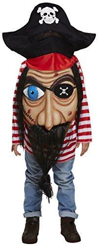 en Mädchen Halloween Riesige Gesicht Piraten Welttag des Buches Karneval Kostüm Verkleidung Outfit 4-12yr Jahre - 7-9 Years ()