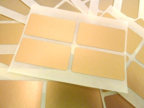 80 Etiquetas, 40x20mm Rectangulo, dorado mate, extraible / adherencia BAJA código de color PEGATINAS, autoadhesivo Adhesivo Etiquetas Colores